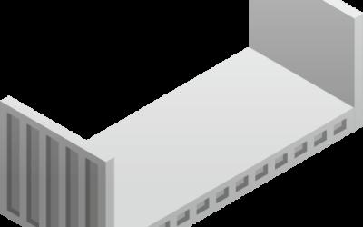 Kontenery morskie z otwartym dachem i bokiem (flat rack containers)